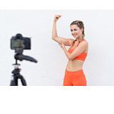Video, Sportlerin, Bizeps, Filmen