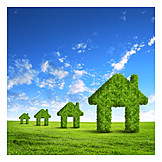 Environment Protection, Ecologically, Eco Friendly House