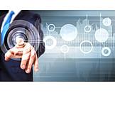 Businessman, Business, Digital, Virtual