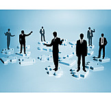 Teamwork, Jigsaw Puzzle, Business Person