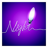 Nightlife, Night, Light Bulb