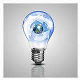Glühbirne, Recycling, Regenerativ, Wiederverwertbar