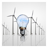 Environment Protection, Wind Power, Pinwheel, Green Electricity, Wind