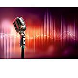 Music, Waves, Microphone