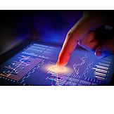 Business, Touchscreen, Financial Market