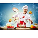 Gastronomie, Ernährung, Kochen, Köchin