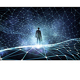 Businessman, Network, Networked