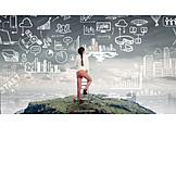 Business Woman, Career, Planning, Strategy, City Development, Urban Planning