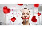Valentinstag, Lippenstift, Schminken
