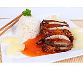 Asian Cuisine, Duck, Sweet Sour