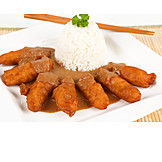 Asian Cuisine, Chicken, Peanut Sauce