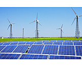 Wind Power, Alternative Energy, Renewable Energies, Solar Plant
