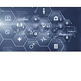 Gesundheitswesen & Medizin, Daten, Piktogramm