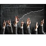 Growth, Hand sign, Statistics, Stock market