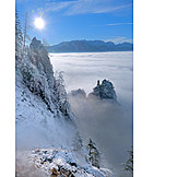 Winter, High fog, Traunstein