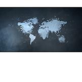 Music, World Map, Musical Note