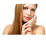 Young Woman, Beauty Culture, Hair Care