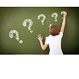 School, Question Mark, Question