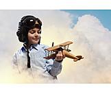 Childhood, Pilot, Airplane, Childhood Dream