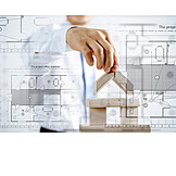 Grundriss, Hausbau, Architekt, Konstruieren