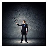 Businessman, Doubts & Worry, Depression, Misfortune