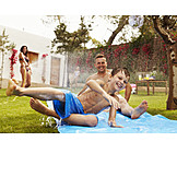 Fun & Happiness, Summer, Water Slide