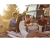 Freundschaft, Picknick, Ausflug, Lebensgefühl