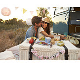 Loving, Love Couple, Picnic, Wedding Travel