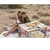 Romantisch, Liebespaar, Picknick