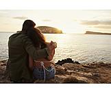 Love, Sunset, Love Couple