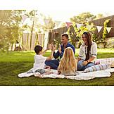 Garten, Familie, Sommerlich