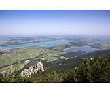 Luftaufnahme, Bayern, Alpsee, Weissensee