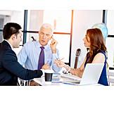 Zusammenarbeit, Meeting, Team, Kollegen