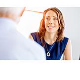 Geschäftsfrau, Büroangestellte, Bewerbungsgespräch