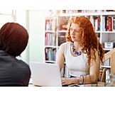 Geschäftsfrau, Beratung, Besprechung