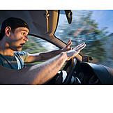 Young Man, Danger & Risk, Car Driver