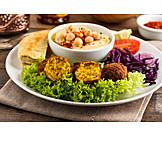 Orientalische Küche, Falafel, Kichererbsenbällchen