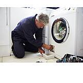 Job & Profession, Repair, Repair, Defect, Electrician, Plumber, Washing Machine