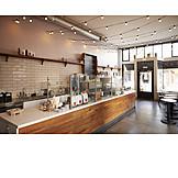 Gastronomie, Café, Restaurant, Einzelhandel, Tresen