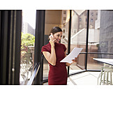 Business woman, Friendly, On the phone