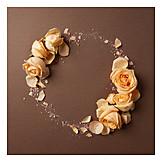 Circle, Rose, Flower arrangement