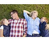 Umarmen, Familie, Familienportrait