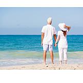 Strandspaziergang, Sommerlich, Partnerschaft