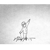 Kleinkind, Illustration, Spielzeugauto