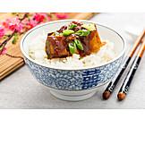 Asian Cuisine, Rice Dish, Tofu