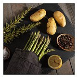 Spices & Ingredients, Green Asparagus, Potatoes