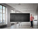 Copy Space, Blackboard, Teacher, Seminar, Training