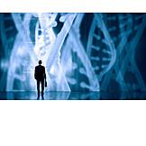 Wissenschaft, Forschung, Digital, Genetik, Diagramm, Dna
