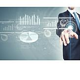 Business, Economy, Touchscreen, Diagram, Virtual, Interface