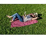 Frau, Freizeit, Pause & Auszeit, Lesen